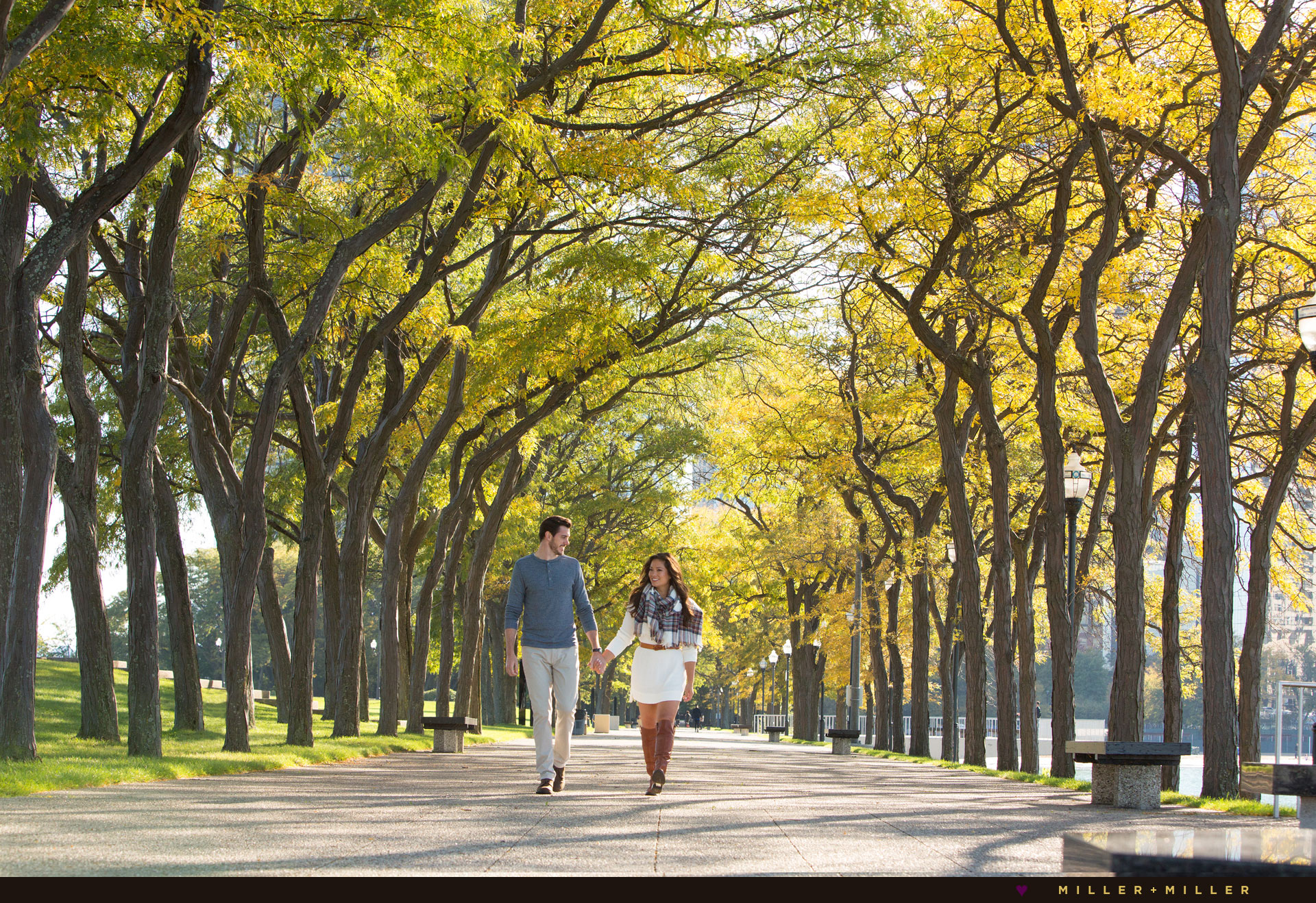 walking-through-trees-fall-engagement-pictures