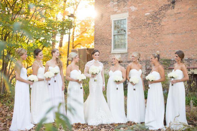 White Long Bridesmaid Dresses