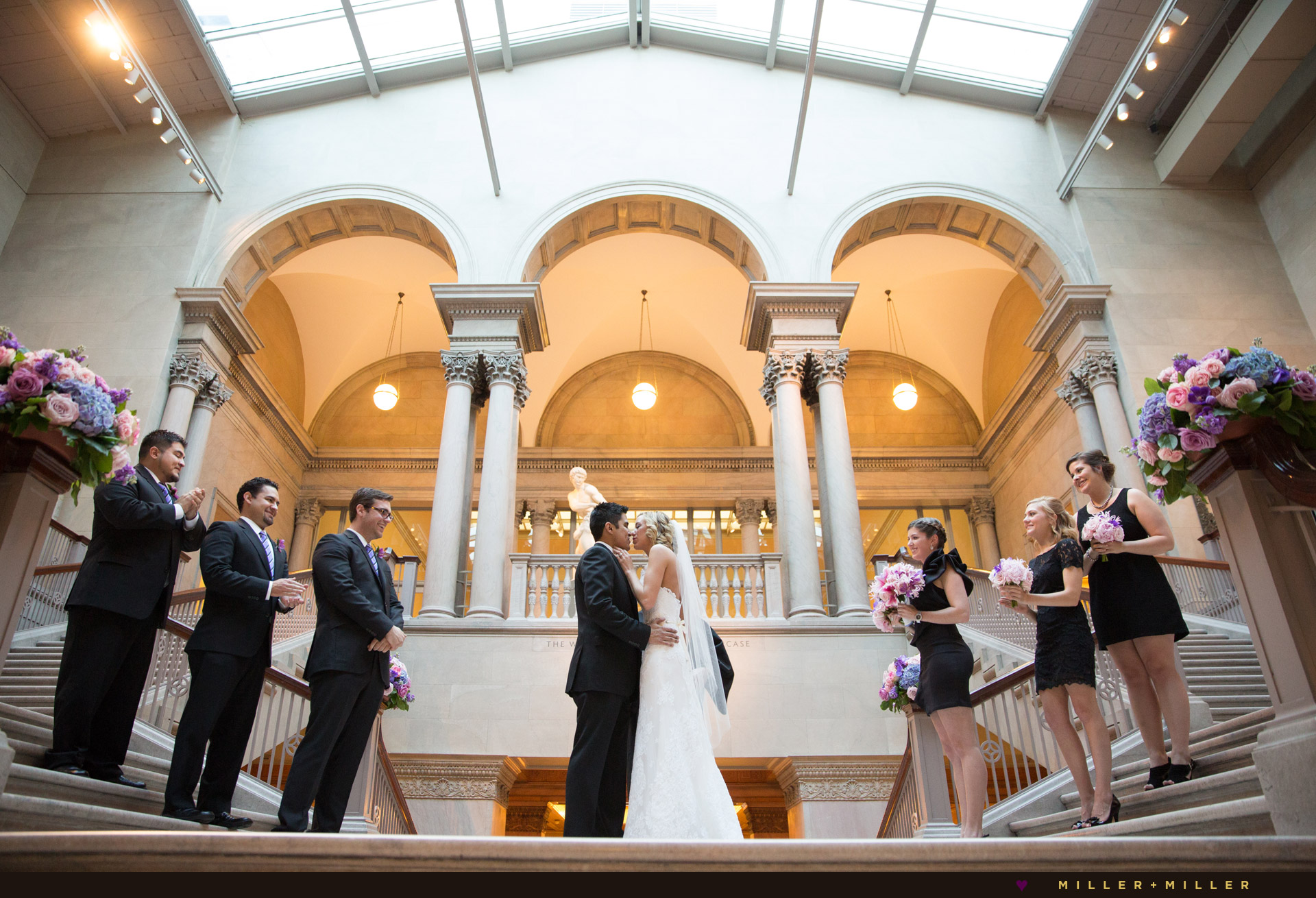 art-institute-chicago-wedding-womens-board-grand-staircase