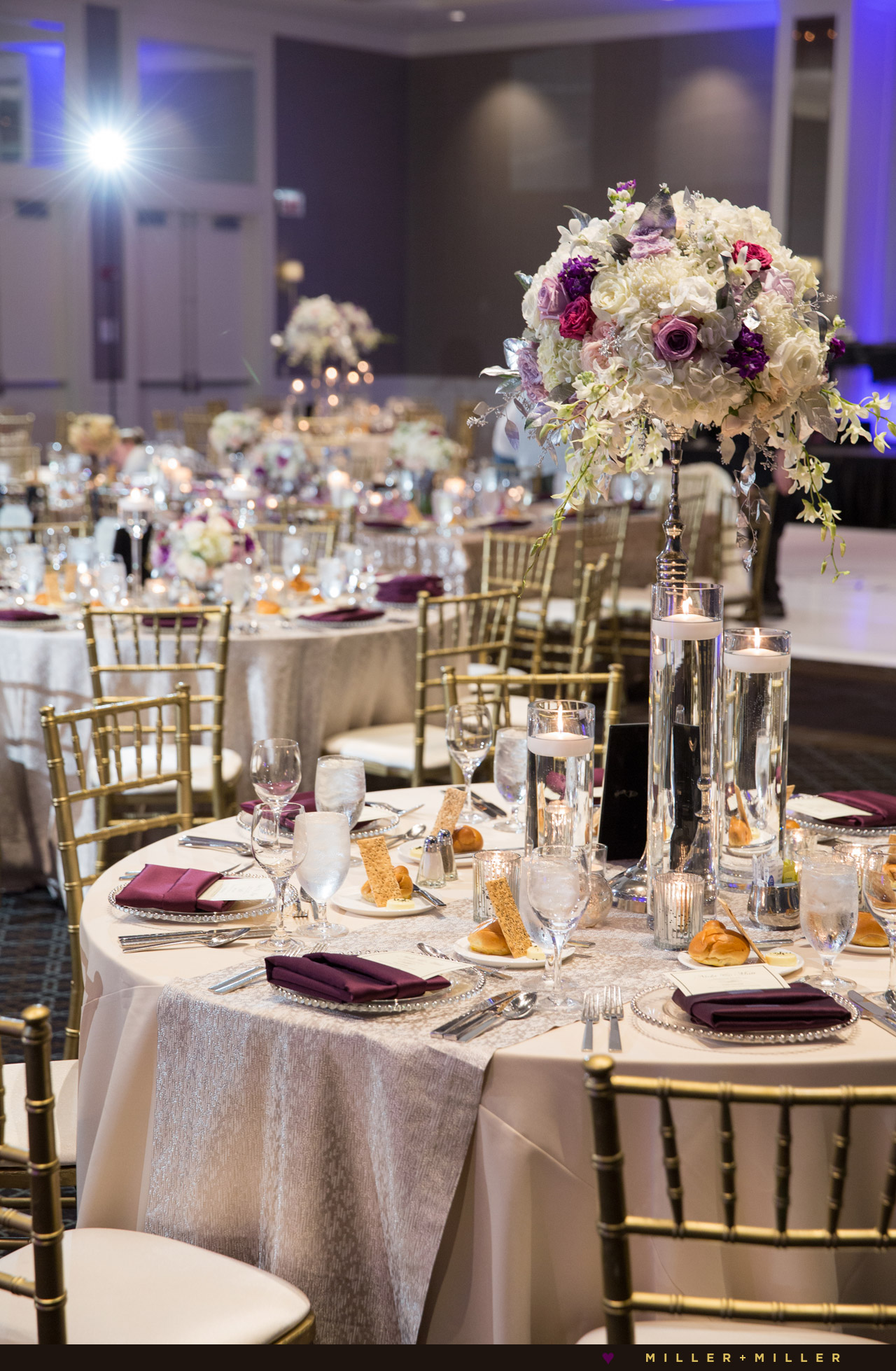 Gold purple luxury wedding
