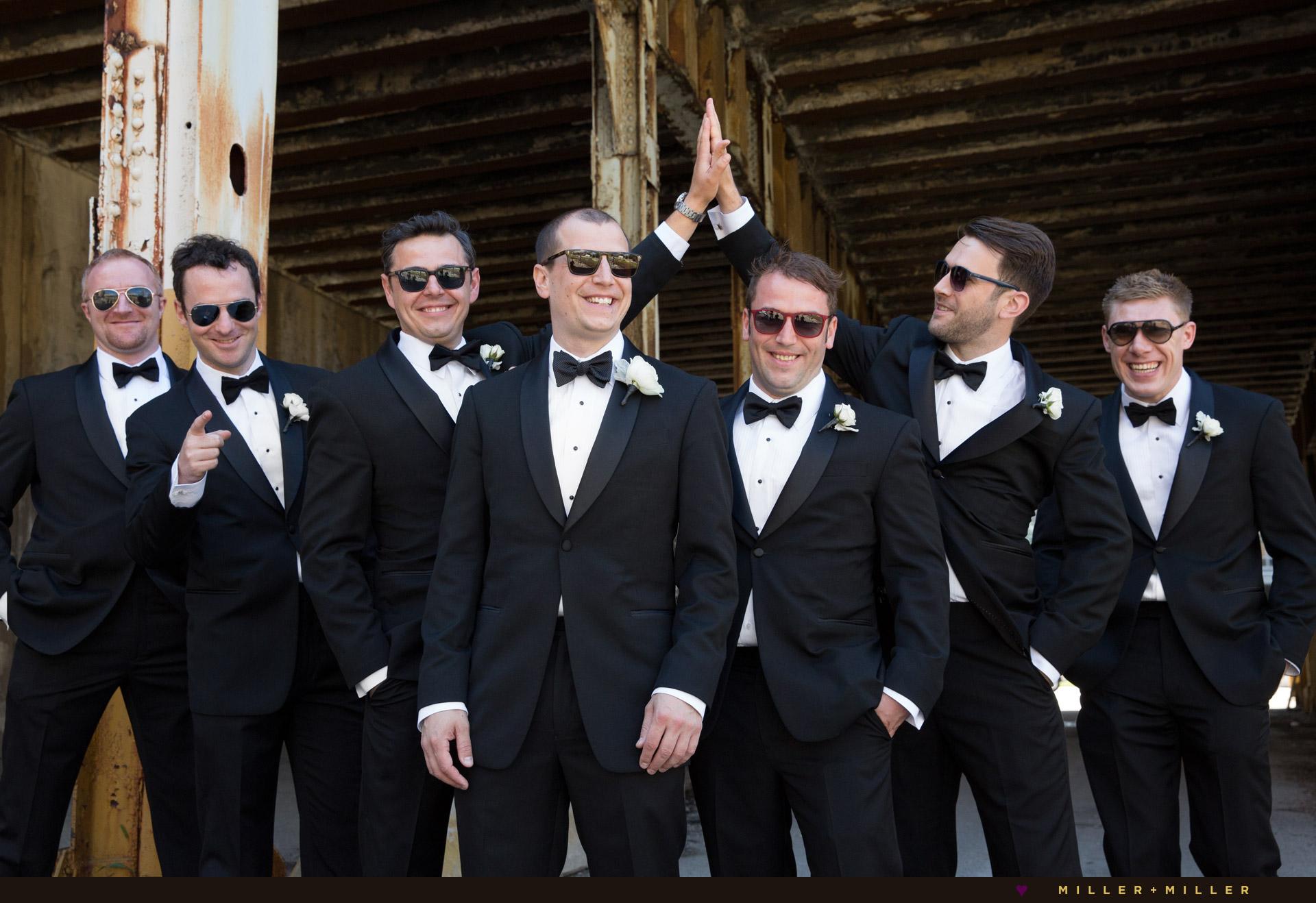 groom-groomsmen-sunglasses