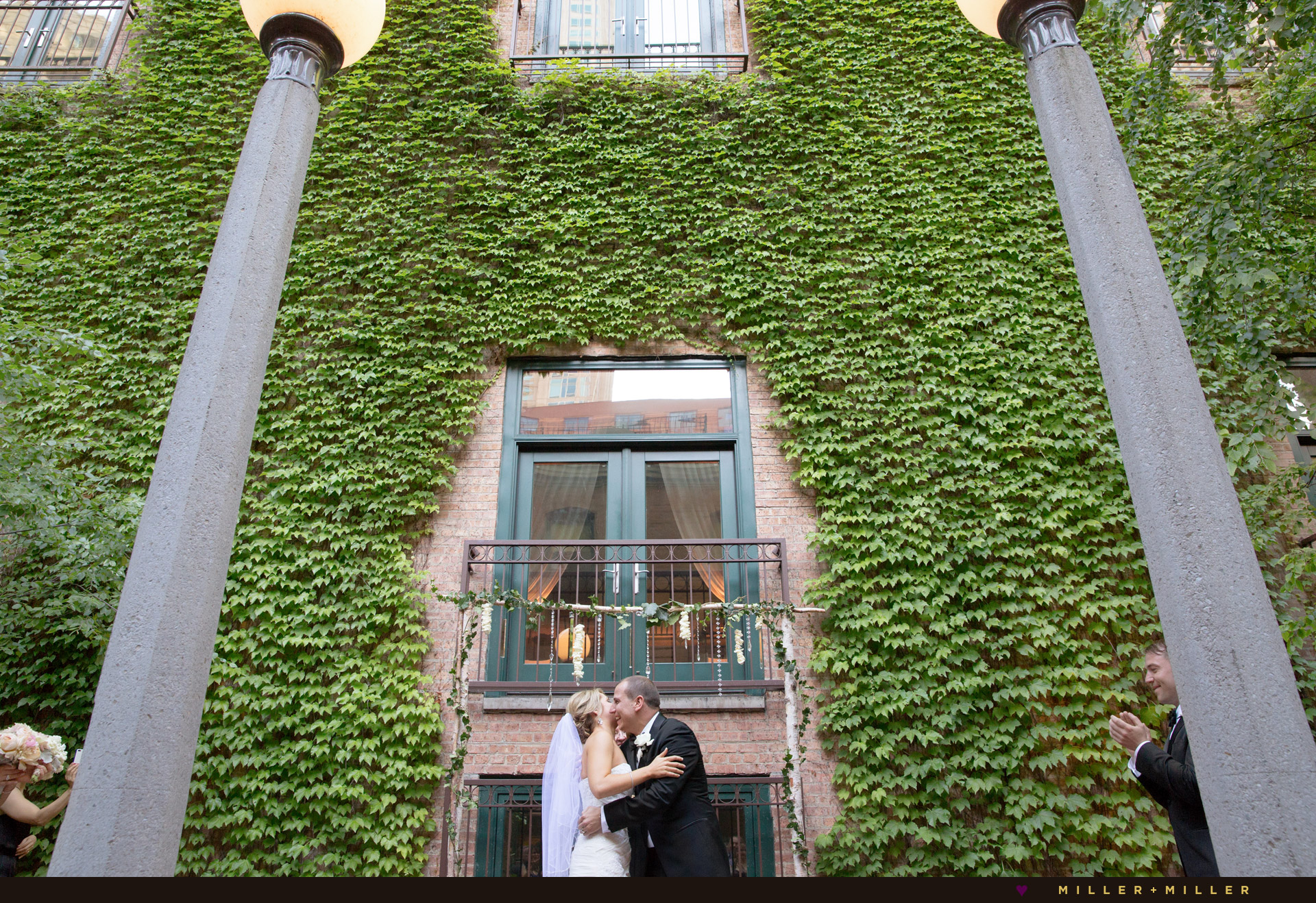 Ivy Room outdoor wedding ceremony