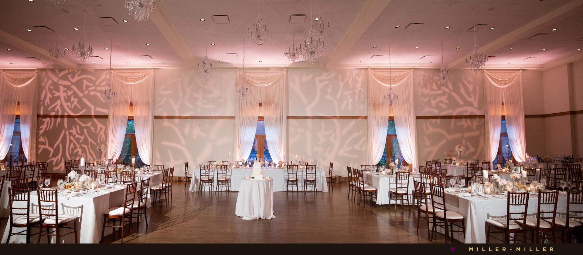 Ivy Room pink wedding reception
