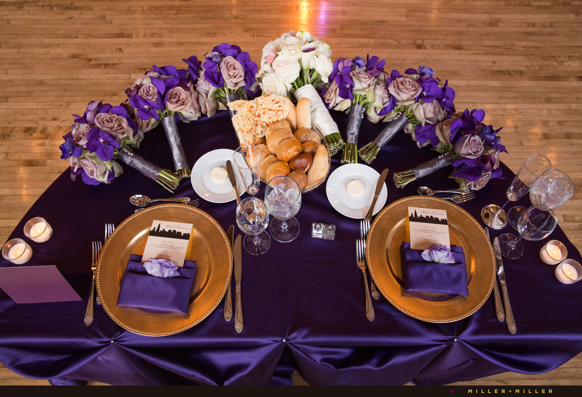 purple-sweetheart-table