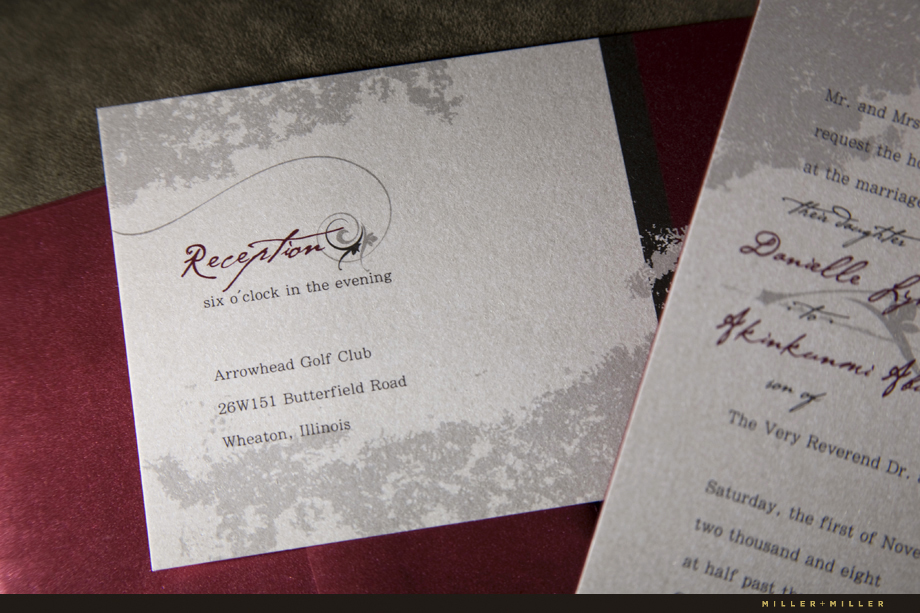 Illinois custom wedding invitation