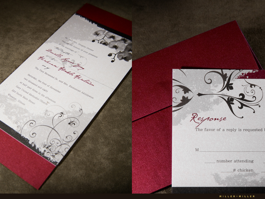 Oakbrook IL wedding invites