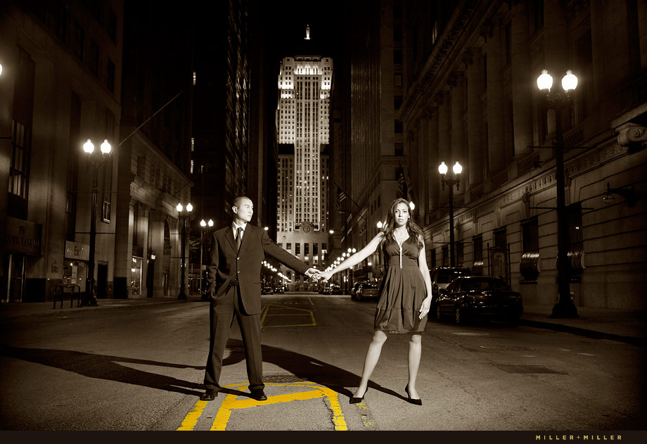 Engagement Photos Skyscrapers