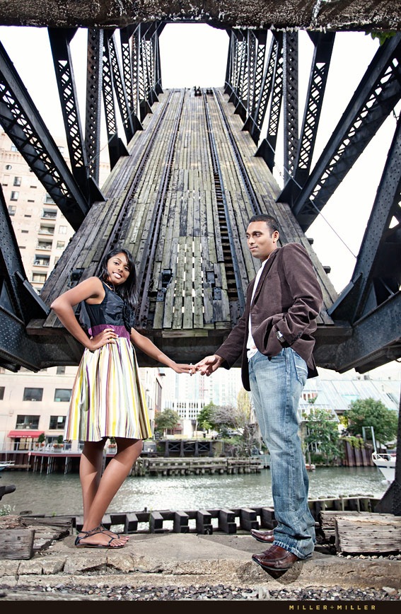 Chicago River Engagement