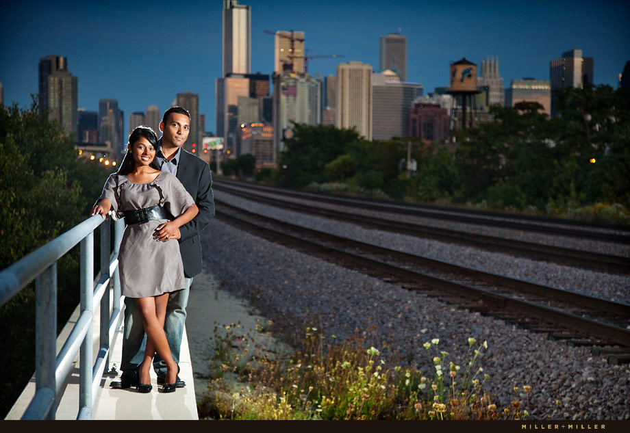 Train Tracks Engagement Skyline