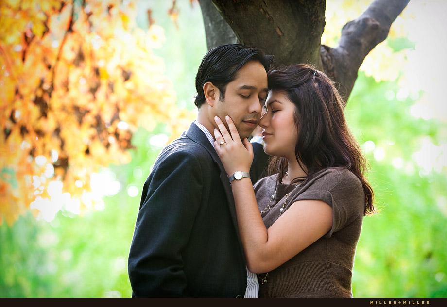 Arboretum Fall engagement photos Lisle