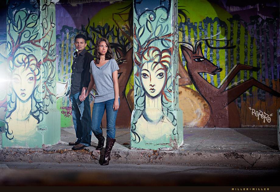 awesome Chicago graffiti engagement photographer