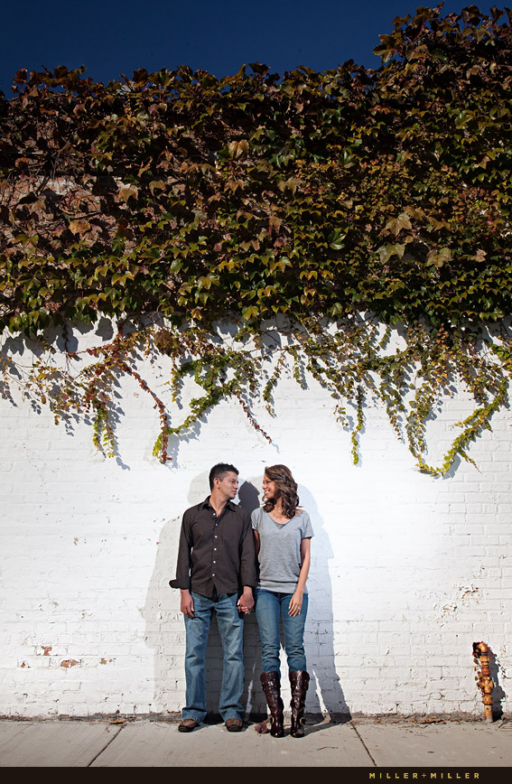 Chicago ivy wall romance photo