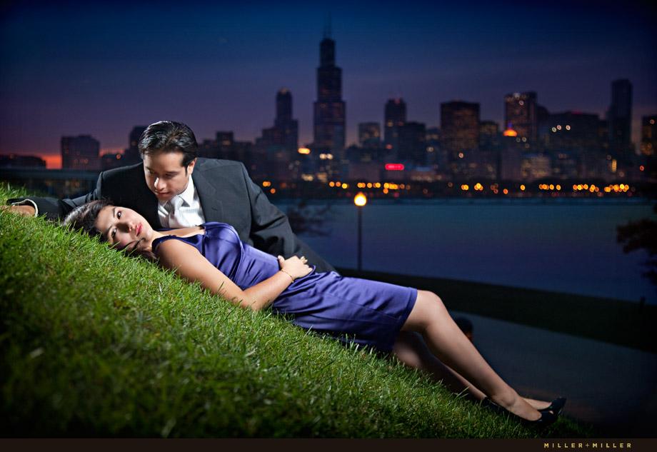 Classic Chicago Engagement Pics