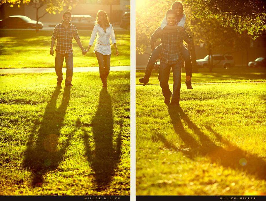 Elmhurst Classic Park garden couple portraits