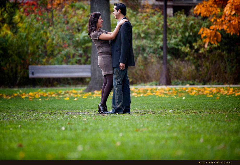 Illinois park garden candid in love photos