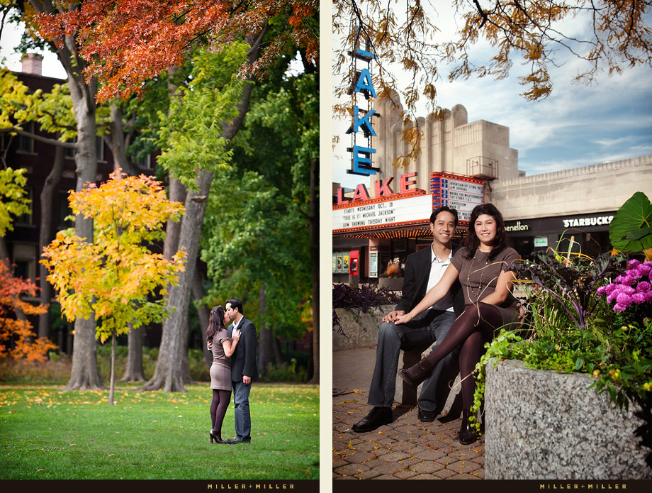 Oak Park IL Fall Romance Engagement Picture