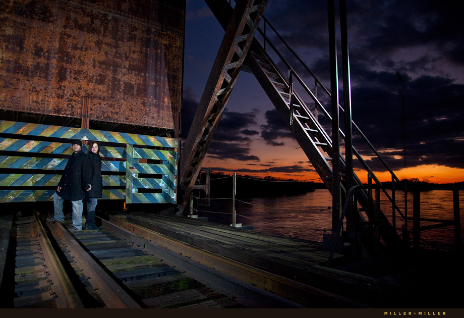 industrial engagement photography sunset