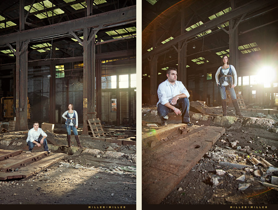 industrial urban engagement portraits photography