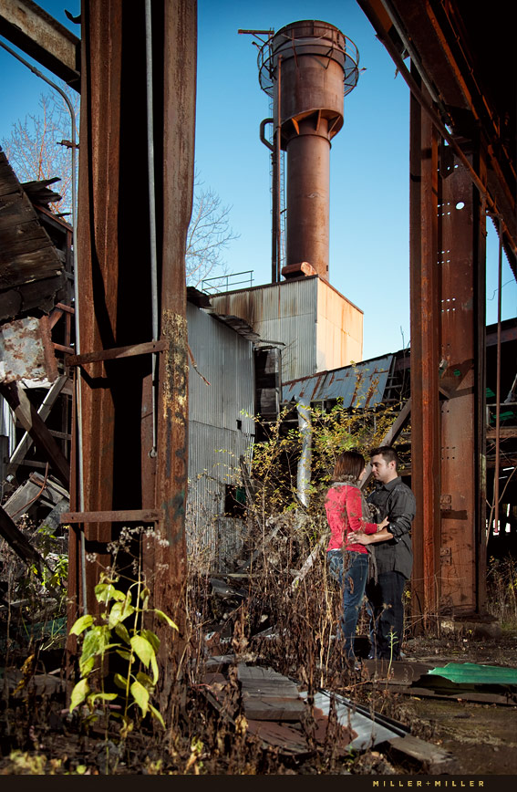 junkyard colorful engagement