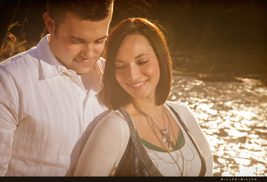 sunset naperville riverwalk engagement