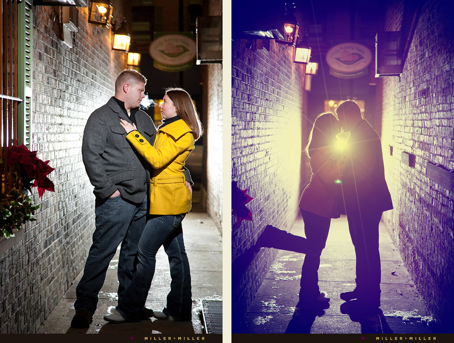 chicago urban alley engagement photos