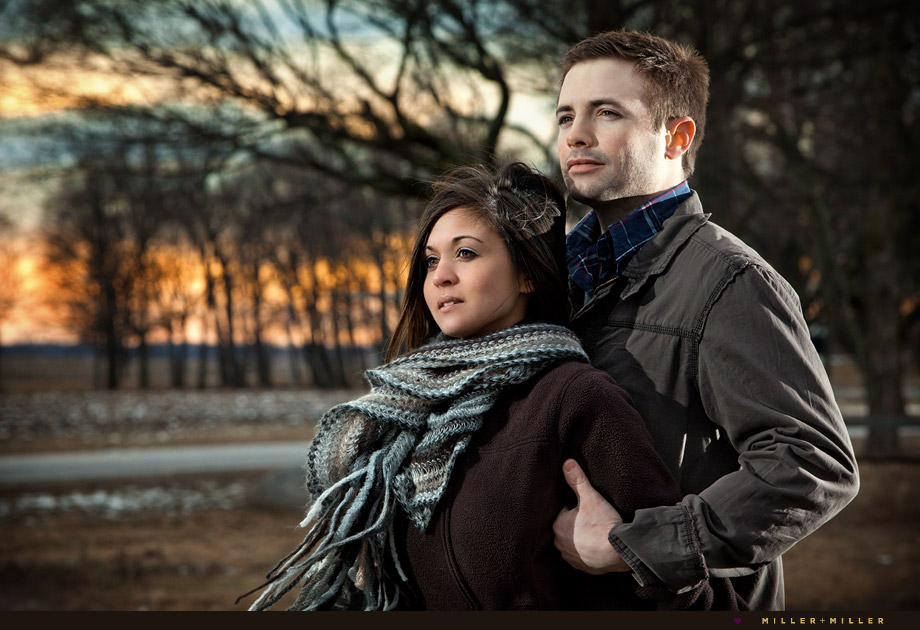 engagement pictures downers sugar grove sunset