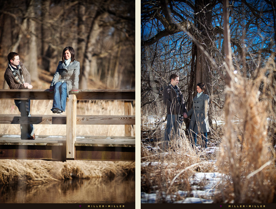 forest preserve engaged couple portraits chicagoland