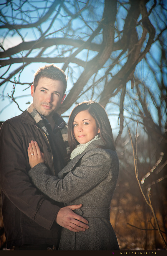 sugar grove engagement photographer winter