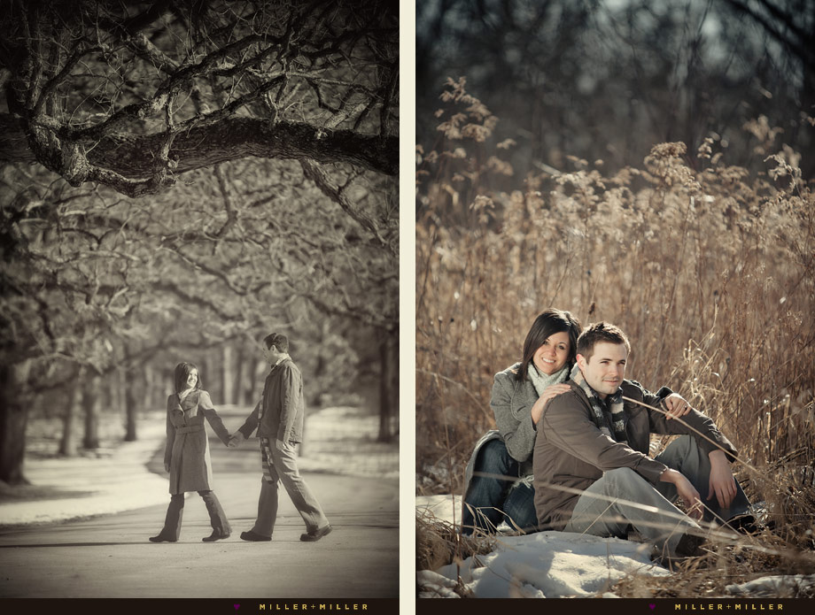 yorkville winter engagement photography