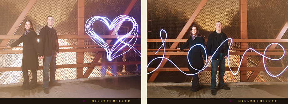 fun night engagement portraiture schaumburg love