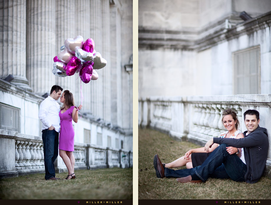 chicago architecture engagement stylish photos balloon