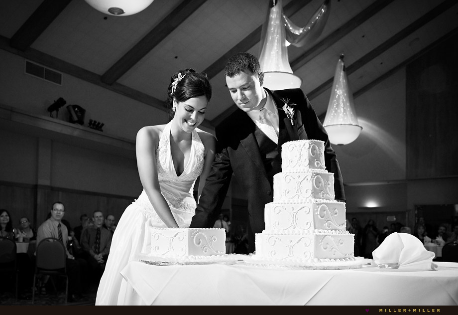 Chicago photojournalistic wedding cake photo