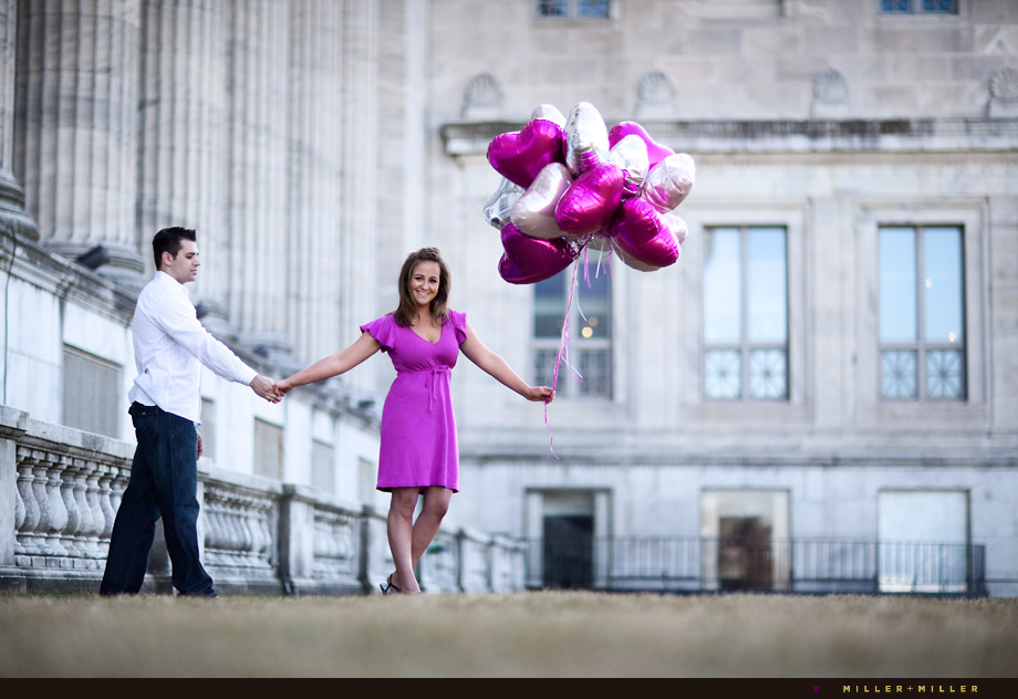 chicago romantic engagement images balloons
