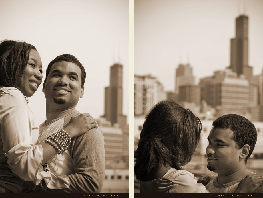 downtown chicago wedding engagement photography