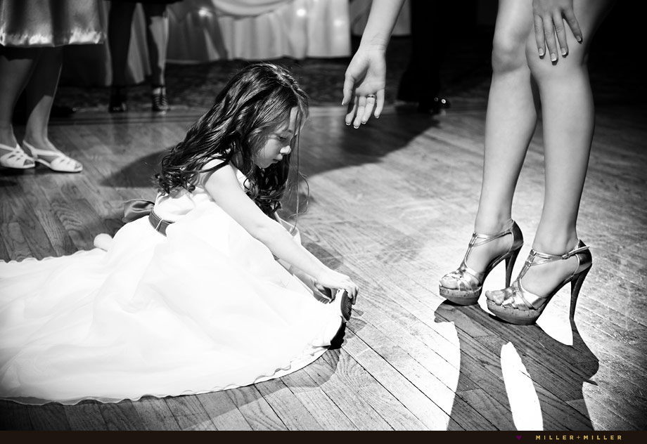 flower girl dancefloor photos reception