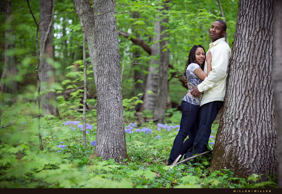forest preserve illinois engagement session