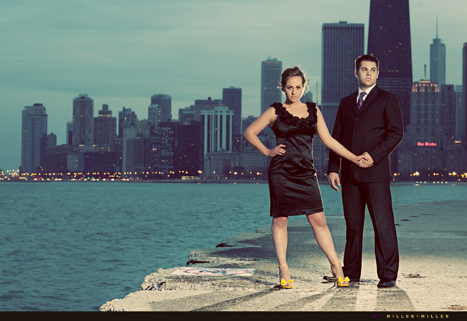 high-fashion chicago edgy engagement photographer photo