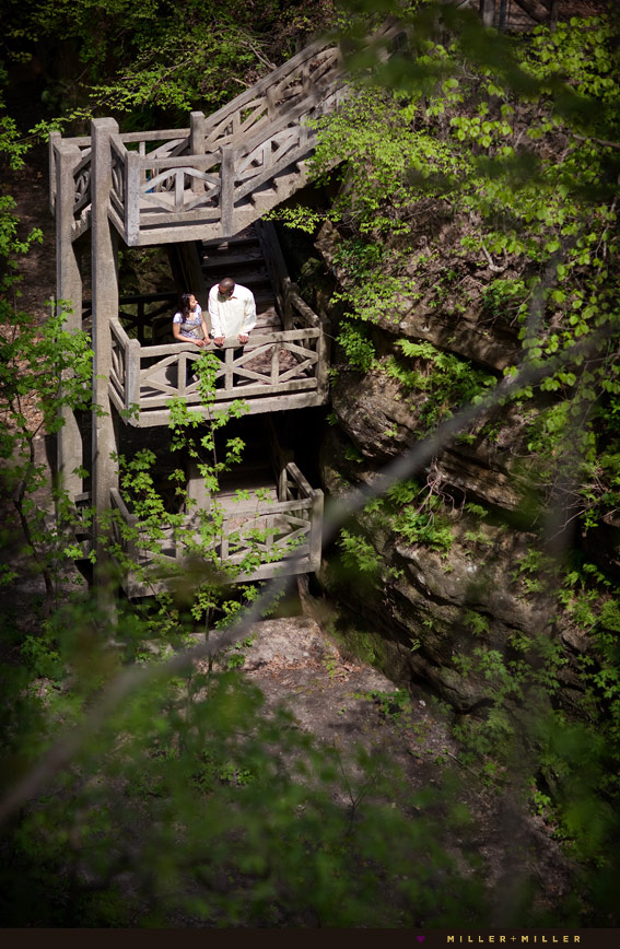 illinois forest portraits canyon stairs