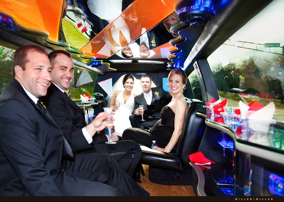schaumburg wedding limo champagne toast