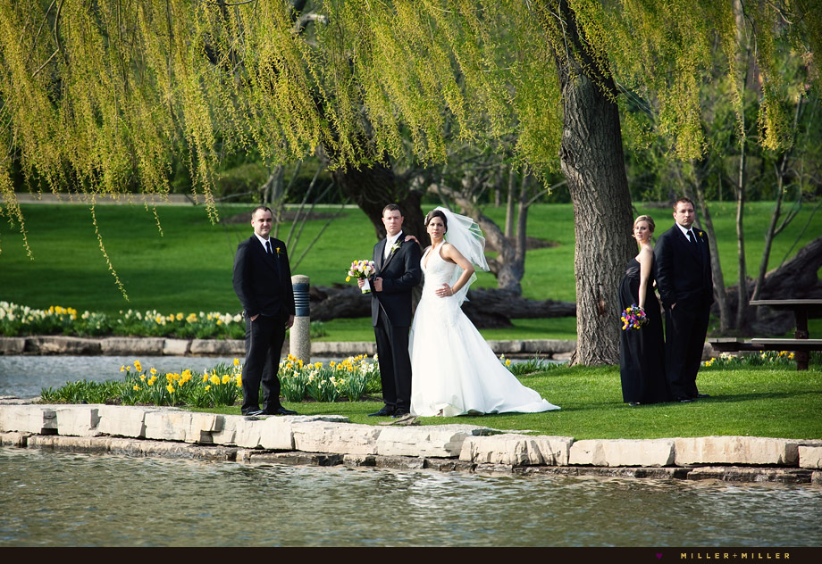 Schaumburg wedding party photos Spring