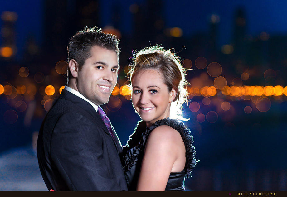 sexy chicago at night engagement photographer pictures
