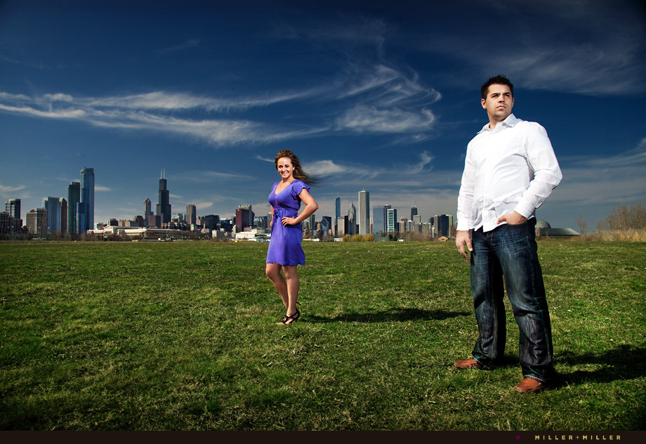 sexy chicago skyline engagement picture photo
