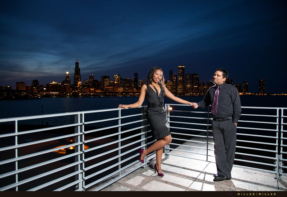chicago skyline night photography formal
