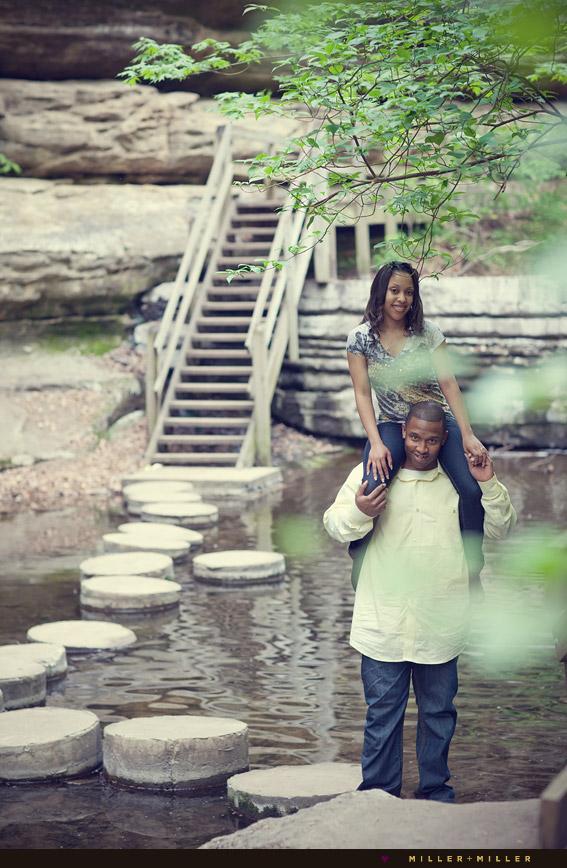 water river couple shoulder ride il pics