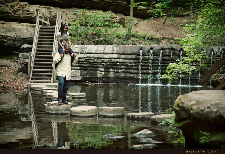 waterfall fun engagement photographer