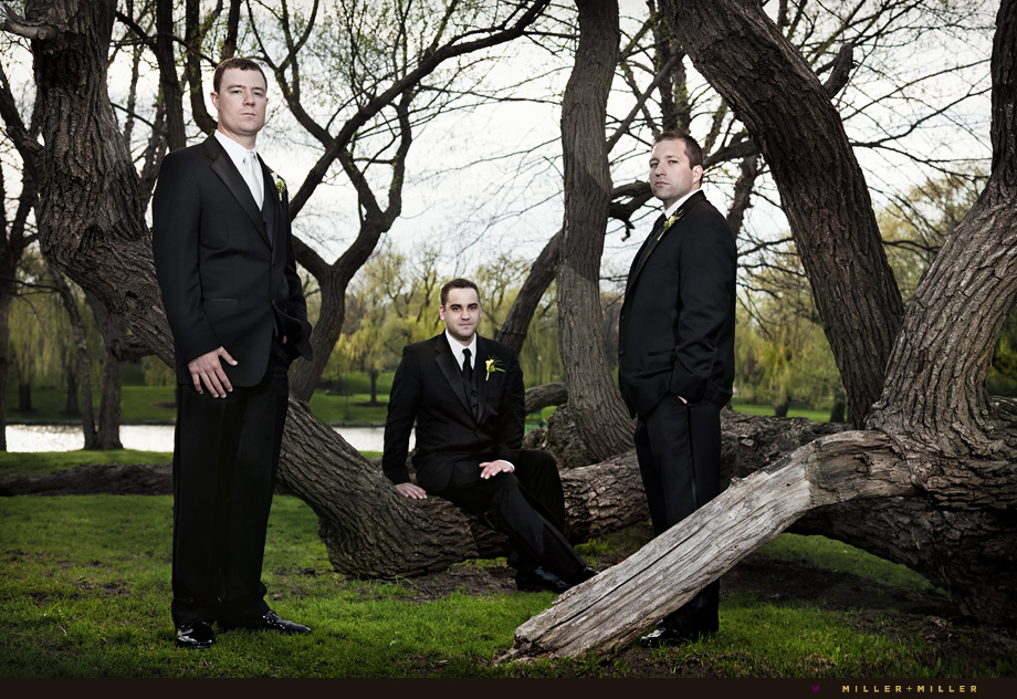 wheaton wedding editorial portraits groomsmen