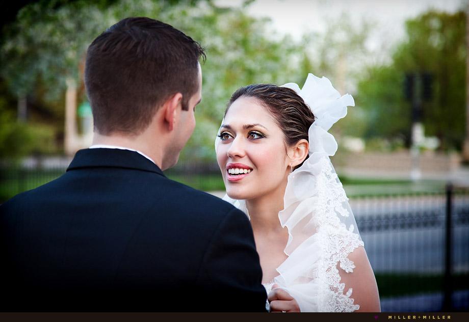 beautiful candid bride wedding photo