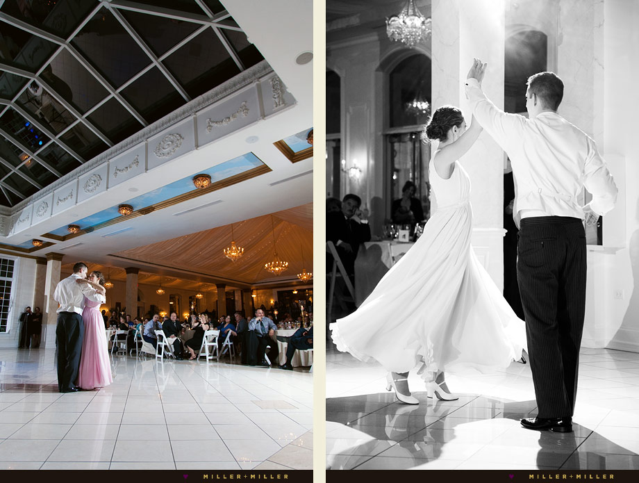 black and white candid regal wedding dance photo