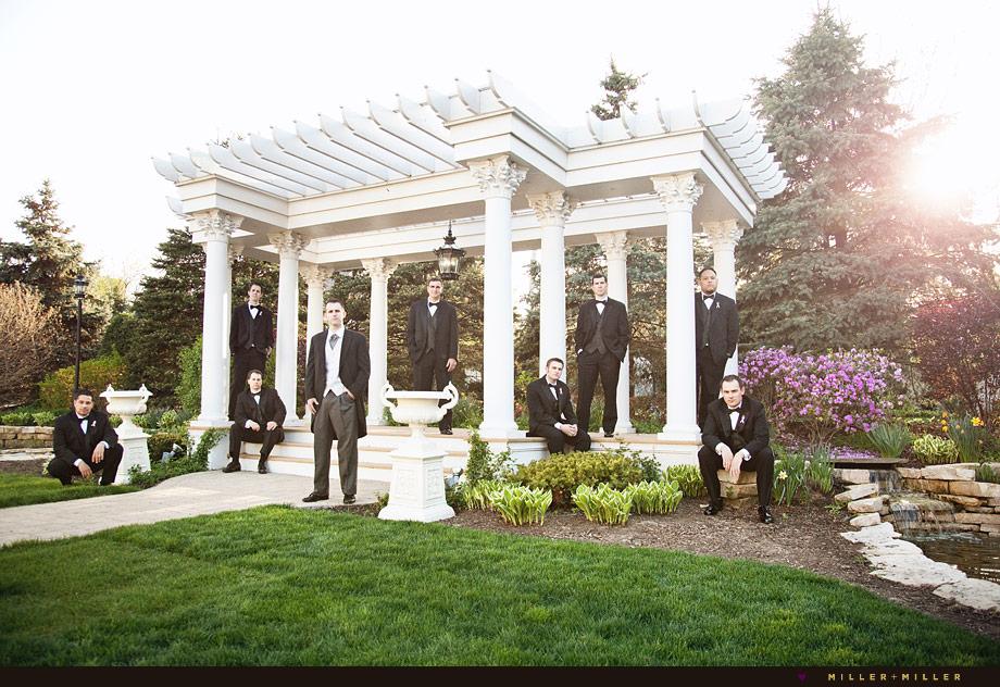 black tie wedding exquisite photography pergola north chicago