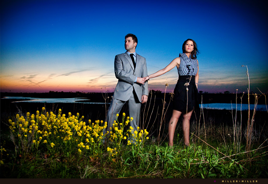 naperville night sky colorful engagement